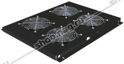 Блок вентиляторов для шкафов TFC глубиной 960мм, 4 вентилятора, черный