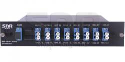 Мультиплексор-Демультиплексор DWDM одноволоконный 8-канальный + TV канал 1550 в шасси - фото