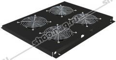 Блок вентиляторов для шкафов TFC глубиной 600мм, 4 вентилятора, черный