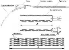 Зажим (подвес) натяжной спиральный (диаметр 13,2-13,5мм  до 110м, с протектором)